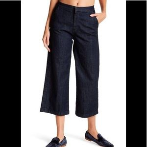 J. Crew Pants - J. Crew Rayner wide leg culotte dark wash